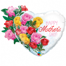Mothers Day Rose Bouquet Large Foil Balloon 1pc